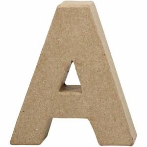papier mache letter