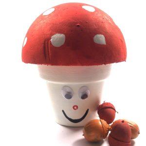 herfst knutselpakket paddenstoel