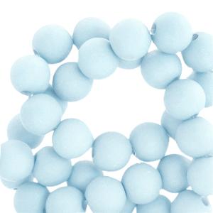 acryl kralen mat light blue 4mm