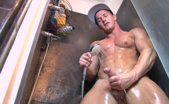 Keumgay Darius Ferdynand In The Shower jerk off video solo gay porn male feet uncut cock feat