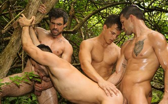 Sean Cody Puerto Rico Day 4 Jayden Manny Brysen Daniel Gay Bareback Fuck Outdoor Fuck Jungle Sex Threesome Foursome Orgy Big Cocks Hairy Men feat