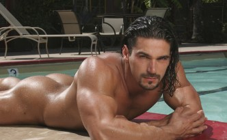 Hot House Mischief Niko Solo Masturbation Scene Long Hair Dude Romanian Guy Latino Looking Guy Uncut Cock Speedo Bulge Pool Photoshoot feat