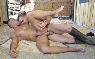 MEN The Stable Damien Crosse Fucks David Dirdam Muscle Hunks Cowboy Uncut Latino Cock Rough Sex Male Feet Domination feat