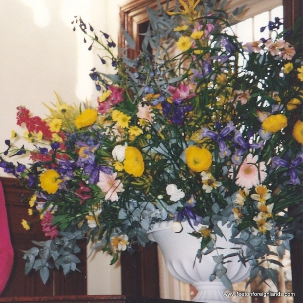 1993 wedding flowers
