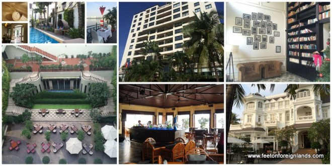 Five different hotels in Saigon