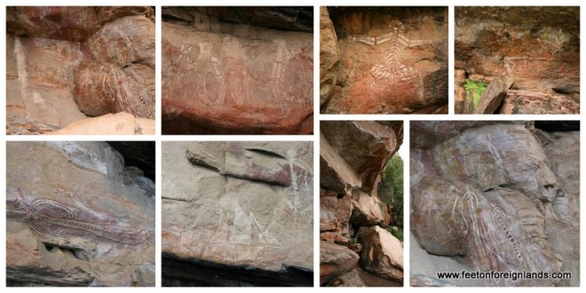 Rock art in Kakadu