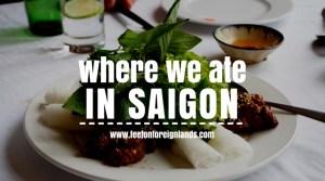 Unique Ho Chi Minh restaurants