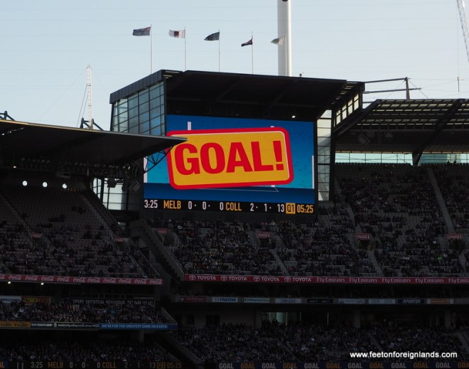 Just in case you missed it, the super screen let;s you know that was a GOAL!