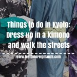 Dressing up in a kimono rental in Kyoto