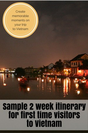 A sample 2 week itinerary for Vietnam: www.feetonforeignlands.com