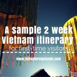 Sample 2 week itinerary for Vietnam