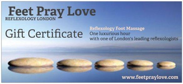 Christmas Gift Voucher Reflexology Foot Massage