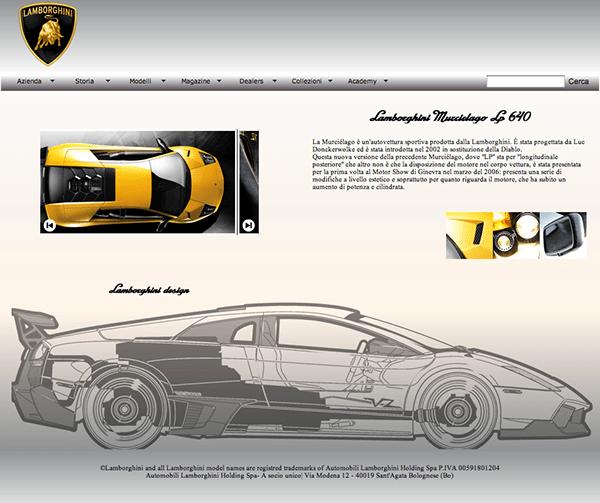 web design // Lamborghini 04