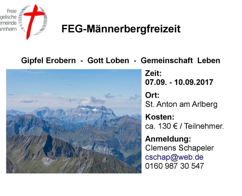 Kontaktdaten für die FeG-Männerbergfreizeit 2017 in St Anton in Österreich