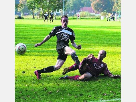 Christian Donath (l.) verletzte sich schwer und konnte erst in der Rückrunde wieder eingesetzt werden. Der 22-jährige Stürmer schoss zehn Tore.