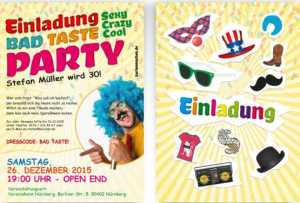 einladung bad-taste-party