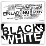 Black and White Einladungskarte