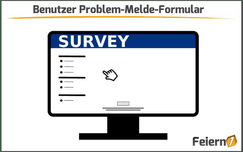 Benutzer Problem-Melde-Formular