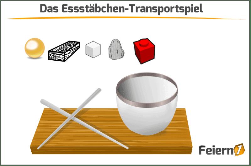 Das Essstäbchen-Transportspiel