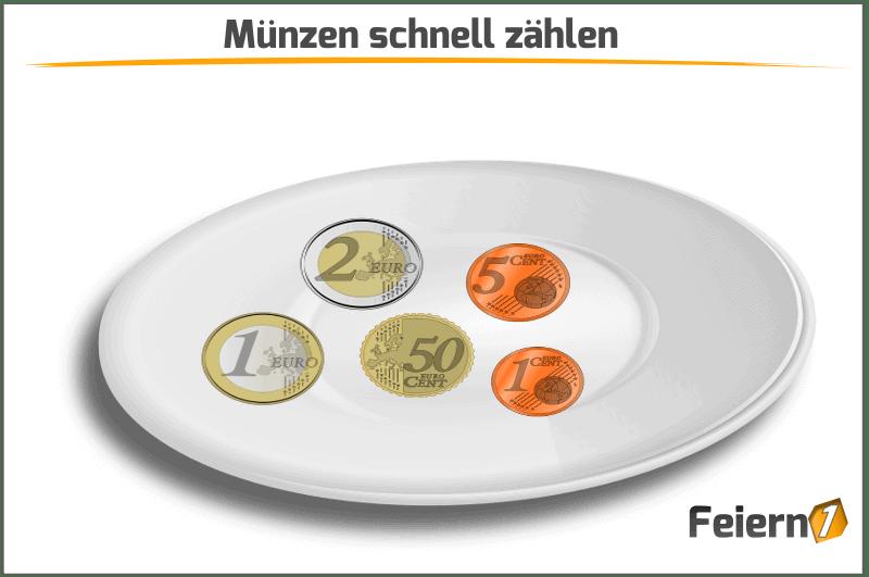 Münzen schnell zählen