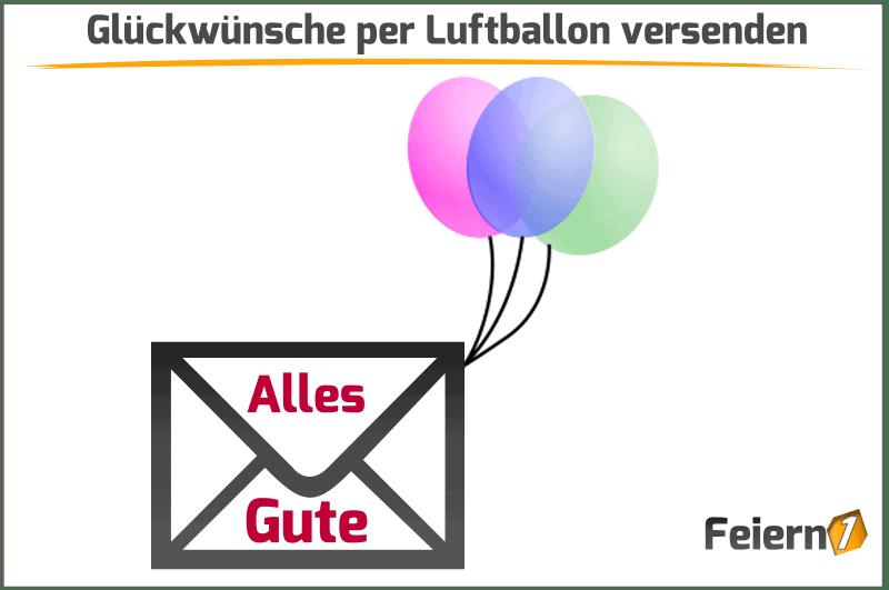 Glückwünsche per Luftballon versenden