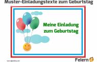 Muster-Einladungstexte zum Geburtstag