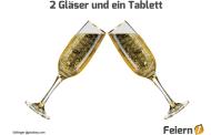 2 Gläser und ein Tablett
