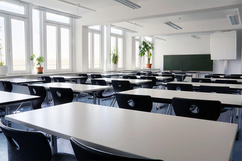 Picture of an empty classroom