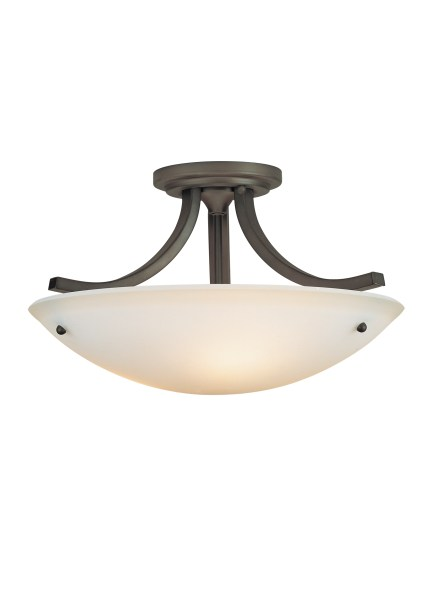 SF189ORB 3   Light Indoor Semi Flush Mount Oil Rubbed Bronze Loading zoom