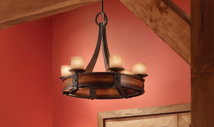 The Traditional Madera Collection By Feiss Has Rustic Looks Furthered Antique Forged Iron An Aged Walnut Wood Finish And Calming Cream Etched Or