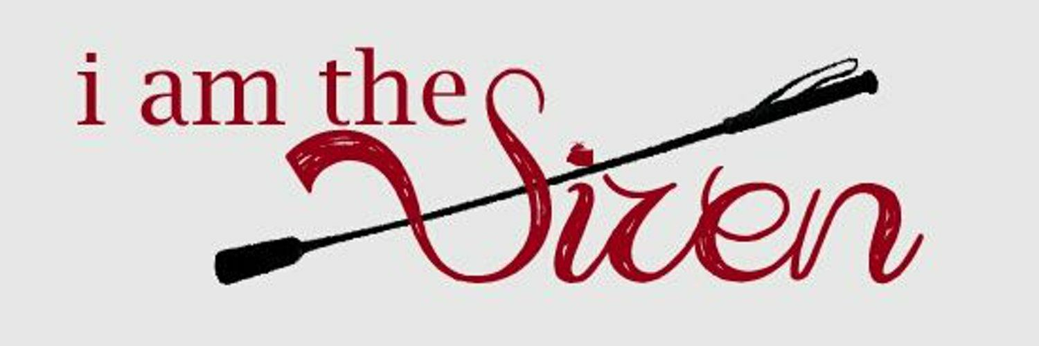 """Banner image saying """"The Siren"""" in red with a riding crop diagonally intersecting the words"""