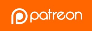 Patreon's logo on an orange background