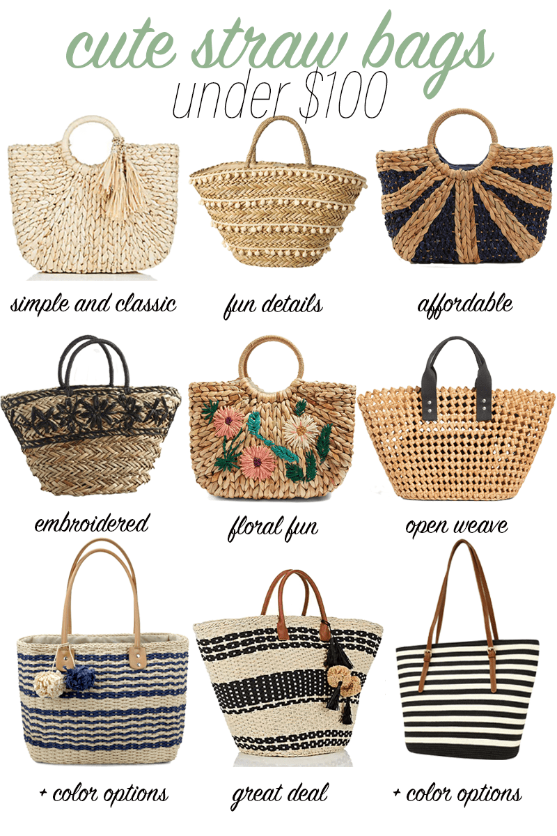 Cute Straw Bags Under $100 #strawbags #springtrends #summertrends #fashion