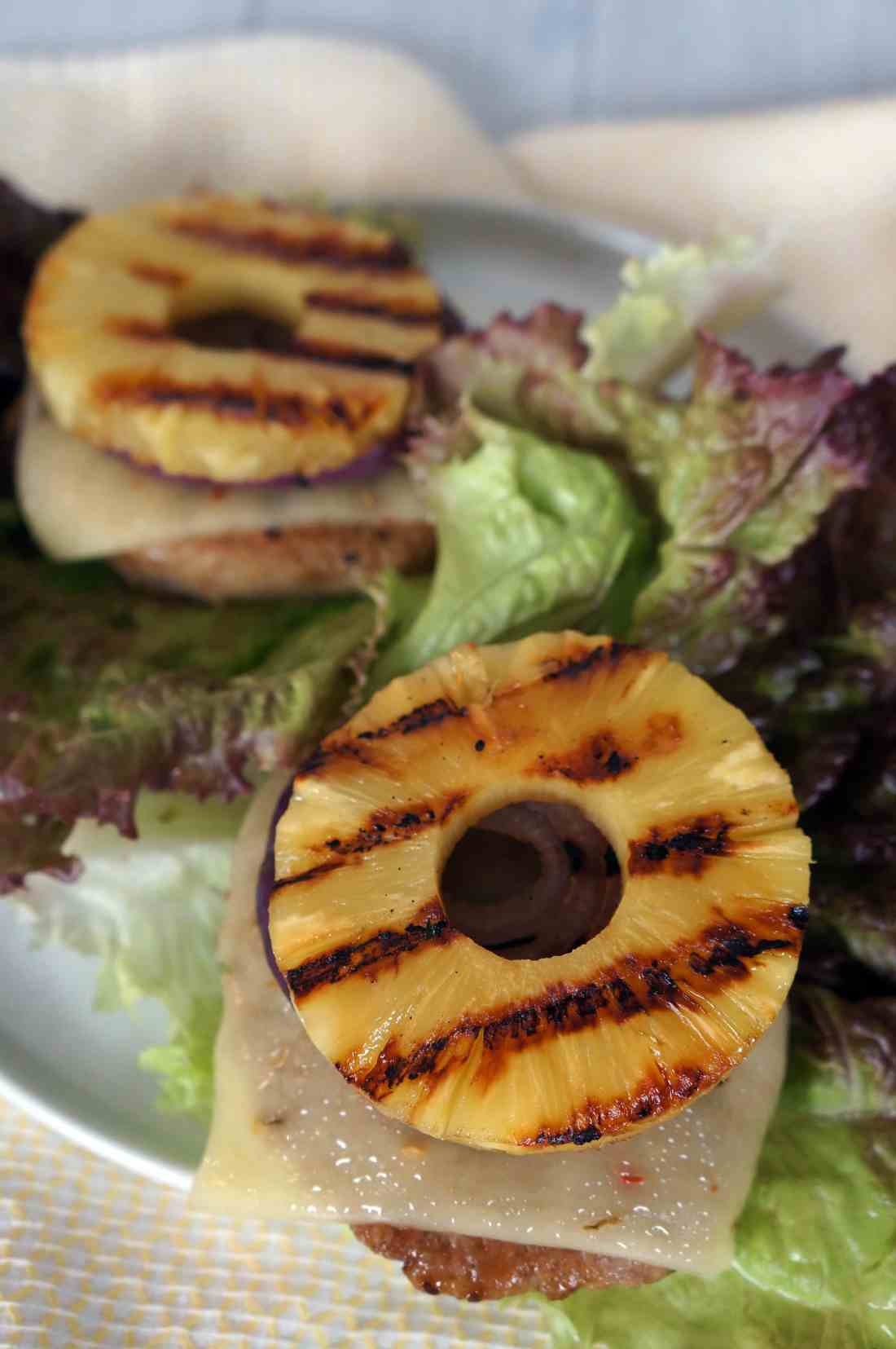 Hawaiian Teriyaki Turkey Burgers