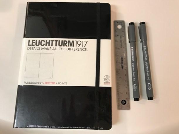 Bullet Journal Basic Supplies