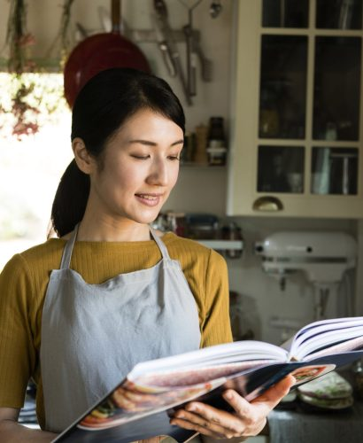 Woman With Cookbook