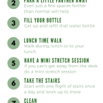 10 ways to be more active