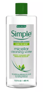 Simple Micellar Cleansing Water Drugstore Skincare