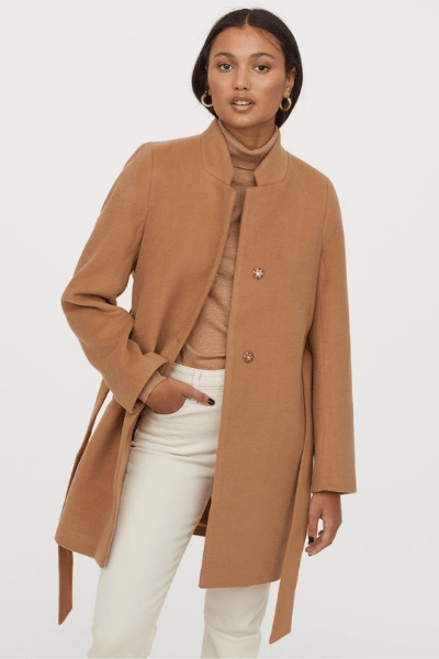 Look Cute In These 10 Coats and Jackets - Tie Belt Coat