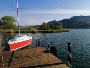 pontile privato al lago di Caldaro