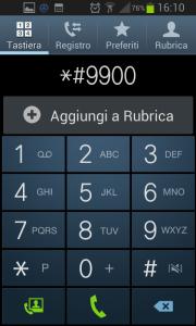Inserire il codice *#9900# per accedere alle funzioni avanzate dei Samsung