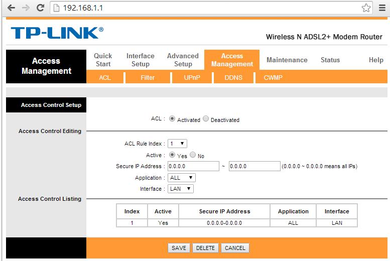 Tp-Link protezione accesso esterno pagina login