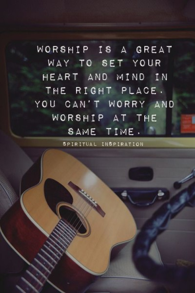 worship past the worry