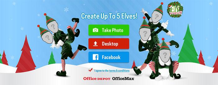 Felicitacion navidad elfos bailando