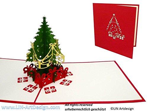 Tarjeta navideña original con arbol de navidad