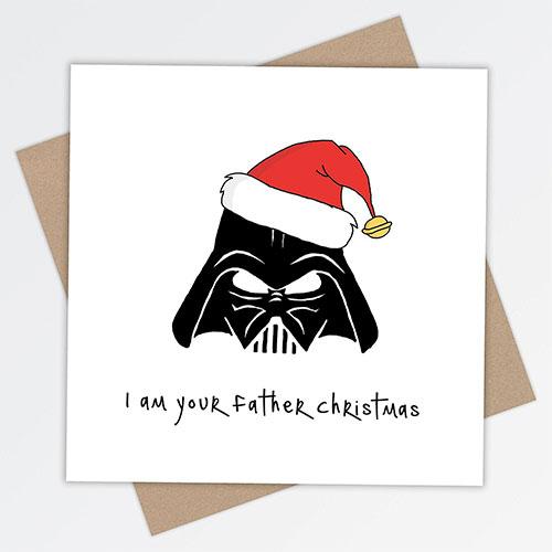 Tarjeta de navidad star wars