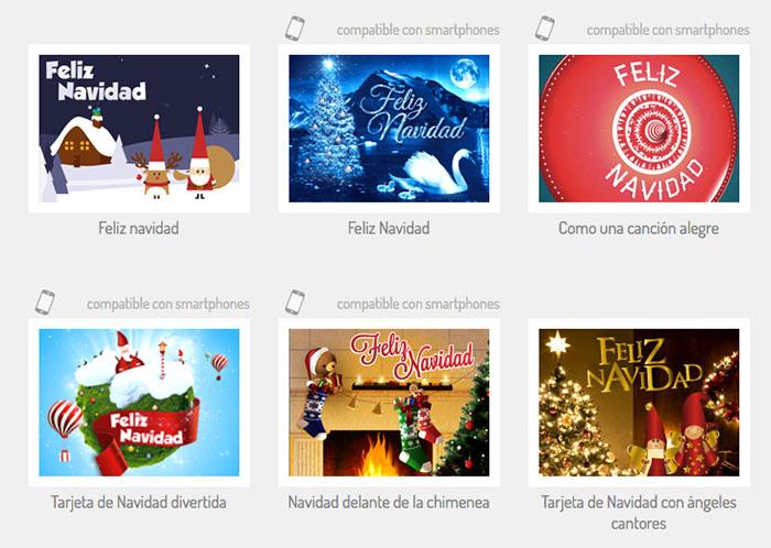 Tarjetas virtuales navideñas personalizadas