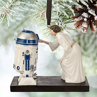 Adorno arbol navidad Star Wars R2-D2 Leia