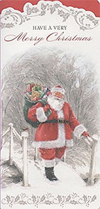 Felicitación de navidad barata de Papá Noel