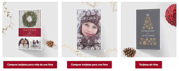 Tarjetas de navidad personalizables
